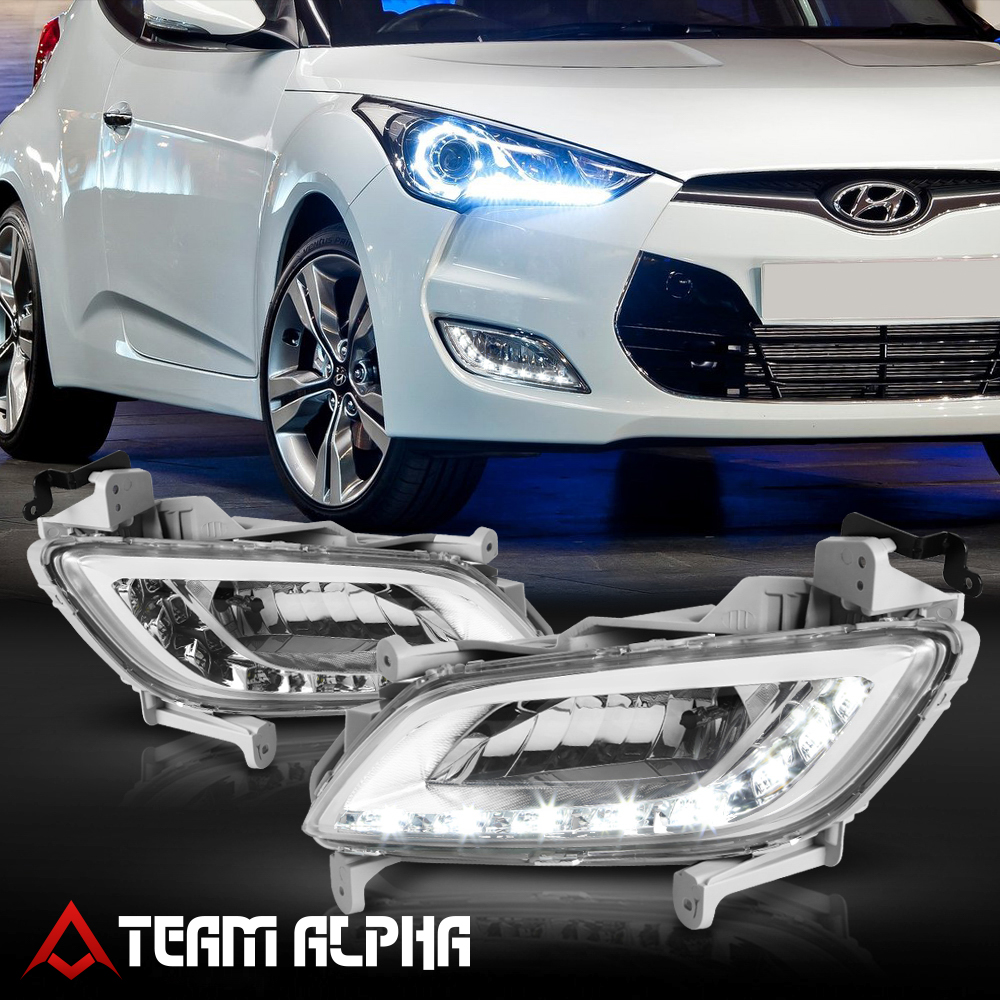 Bumper Fog Light Lamp w//Switch+Harness Fits 2010-2015 Mit Montero//Sport Clear