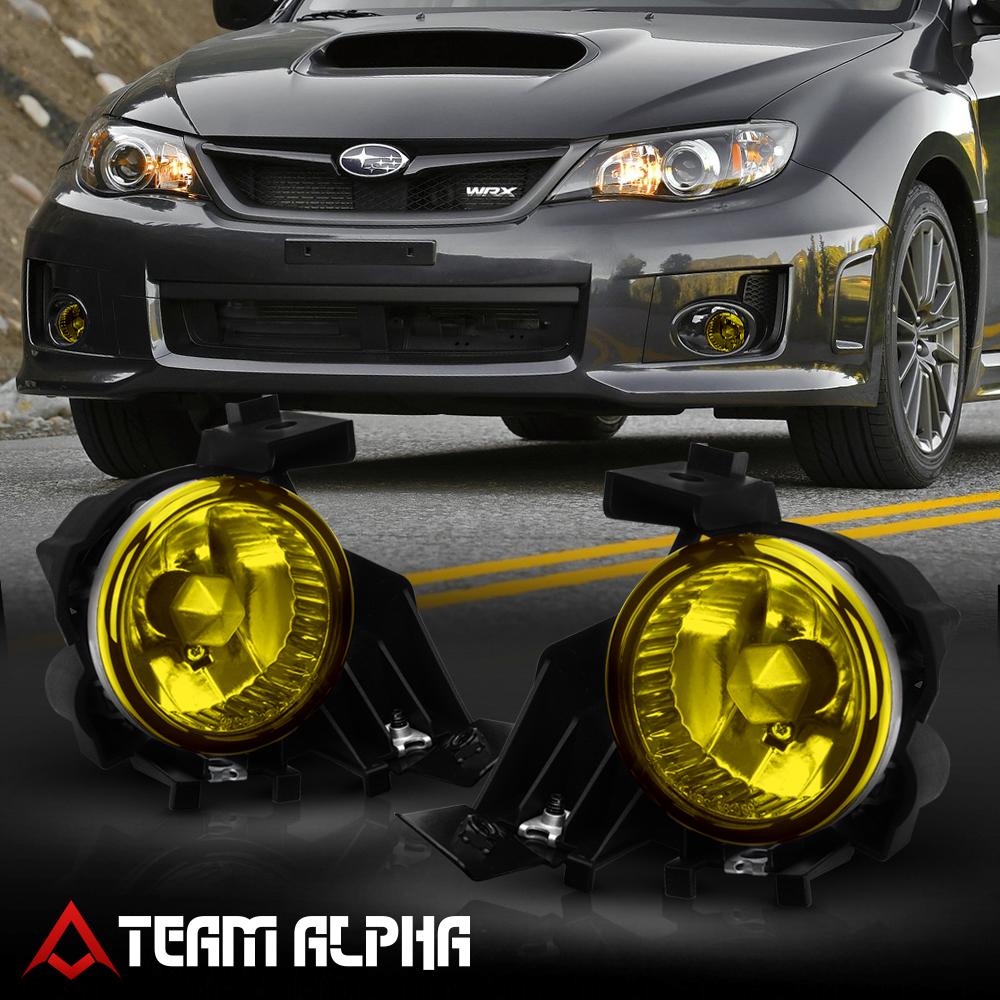 Fits 2008 2011 Subaru Impreza Wrx Yellow Bumper Fog Light W Switch Harness Bezel Ebay
