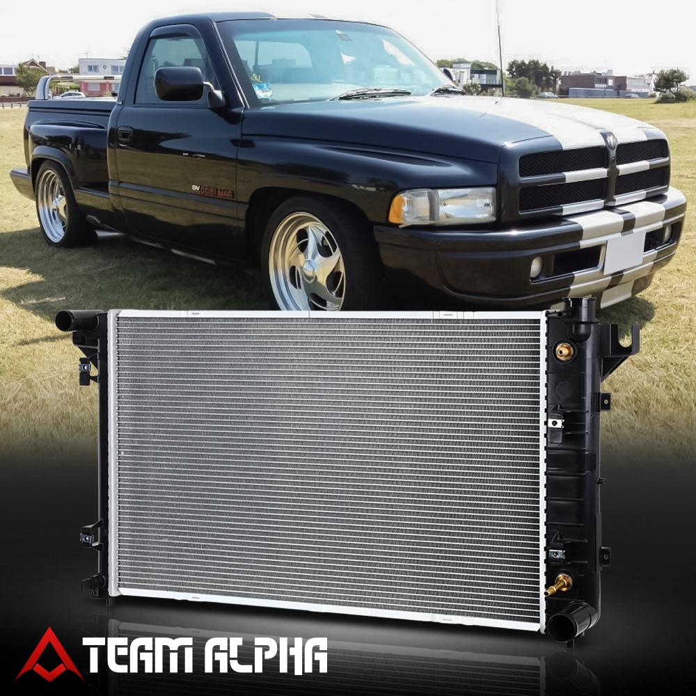 Radiator AT Auto Aluminum//Plastic For 1994-2002 Dodge Ram 1500 5.2L 3.9L 5.9L V6 V8 2500 5.9L 5.2L V8 3500 5.9L V8 4000 5.9L V8 Ramcharger 5.2L V8 CU1552 52028057AE 52006491AB 52028057 52028057AD